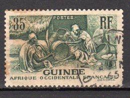 Guinée Yvert N° 134 Oblitéré Point De Rouilleles Laobis, Artisans Du Bois Lot 5-48 - Usati