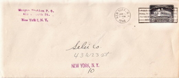 USA Used Postal Stationery Cover, 4c Black Washington Bicentennial Issue From 1932 - 1921-40