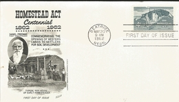 J) 1962 UNITED STATES, MASONIC GRAND LODGE, HOMESTEAD ACT CENTENNIAL 1862-1962, COMMEMORATING THE OPENING OF WESTERN LAN - United States