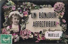 33693. Postal Romantica Vintage RUELLE Sur TOUVRE (Charente) 1911 A Paris - Francia