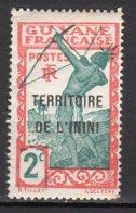 Inini Yvert N° 2 Neuf Avec Charnière Point De Rouille Lot 6-31 - Inini (1932-1947)