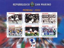 2002, San Marino, 2012/17 Block 29, Fußball-Weltmeisterschaft, Japan Und Südkorea.  MNH ** - Blocks & Kleinbögen