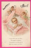 CPA (Réf: Z2287) (THÈME FÊTES VŒUX) 1er AVRIL AVEC ANGE Et Enfant - 1er Avril - Poisson D'avril