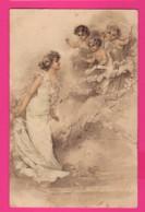 CPA (Réf: Z2289)  (THÈME FEMMES) Viennoise Avec Anges - Donne