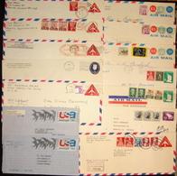 USA 14 Used Postal Stationery Covers - Postal Stationery
