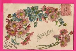 CPA GAUFRÉE (Réf: Z2304)   (THÈME FÊTES VŒUX) Bonne Fête Bonne Année Myosotis - Auguri - Feste