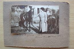 TOSCANA FOTO PULEDRO CAVALLO CON SIGNORA ANNO 1917 BORGO A BUGGIANO PISTOIA - Foto