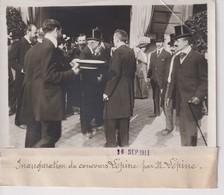 INAUGURATION DU CONCOURS LEPINE PAR M LEPINE  18*13CM Maurice-Louis BRANGER PARÍS (1874-1950) - Personalidades Famosas
