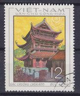 Vietnam 1968 Mi. 551    12 (xu) Glockenturm Der Keo-Pagode Thai Binh - Vietnam