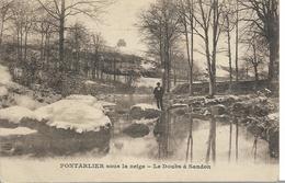 Pontarlier Sous La Neige- Le Doubs à SANDON - Non Classés