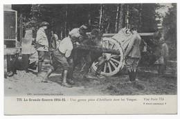Une Grosse Pièce D' Artillerie Dans Les Vosges - Guerre 1914-18