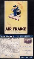 AIR FRANCE - ARGENTINE - BUENOS AIRES / 1939 CARTE POSTALE AVION  ILLUSTREE POUR LA FRANCE (ref LE3582) - Lettres & Documents