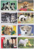 SUPERBE LOT De 50 Cartes Prépayées Japon Differentes - Animal Chien Chiens - Dog Japan Prepaid Cards - Hund Karten  1335 - Japon