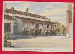 CARTOLINA VG ITALIA - La Casa Ove Nacque DON BOSCO Sui Colli Di Castelnuovo (Asti) - 10 X 15 - 1949 - Santi