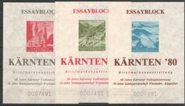 """Österreich 1980: """"ESSAY-Blockserie Zur Kärntner `80"""" Postfrisch Mit Reg.Nr. - 1991-00 Ungebraucht"""