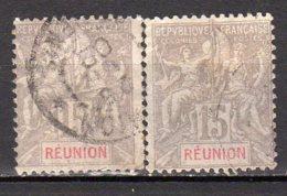 Réunion Yvert N° 48 Oblitéré / Oblitéré Lot 9-52 - Isola Di Rèunion (1852-1975)