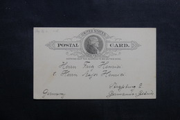 ETATS UNIS - Entier Postal Pour L 'Allemagne Non Oblitéré - L 40210 - ...-1900
