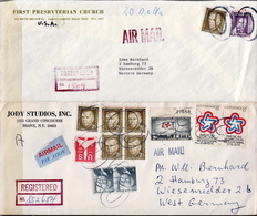 USA 5 Registered Covers With Big O Cancels - United States