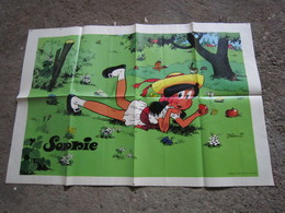 Ancien Poster Supplement Spirou Sophie Parfait Etat - Plakate & Offsets