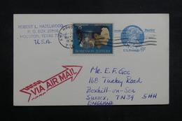 ETATS UNIS - Entier Postal De Houston Pour Le Royaume Uni En 1974 - L 40216 - 1961-80