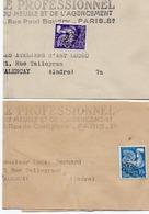 2 BANDES JOURNAUX AFFRANCHIES PREO N° 110 + N° 119 -ANNEE 1959-60 - 1953-1960