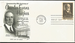 J) 1962 UNITED STATES, MASONIC GRAND LODGE, COMMEMORATING 100th ANNIVERSARY OF CHARLES EVANS HUGHES, GOVERNOR OF THE STA - United States
