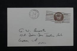 ETATS UNIS - Entier Postal Commercial De New London En 1972 - L 40217 - 1961-80