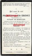 Doodsprentje Prudentia Couchez Zarren 1893 En Overleden Te Poeke 1930 De Schryver Octaaf  Diksmuide Werken Kortemark Bid - Images Religieuses