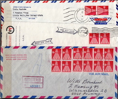 USA 9 Covers With Booklet Stamps And Panes - United States