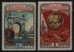 Russia / Sowjetunion 1952 - Mi-Nr. 1646-1647 ** - MNH - Oktoberrevolution (I) - 1923-1991 URSS