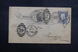 ETATS UNIS - Entier Postal + Complément De New York Pour L 'Allemagne En 1887 - L 40220 - ...-1900