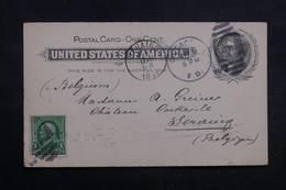 ETATS UNIS - Entier Postal + Complément De Chicago  Pour La Belgique En 1899 - L 40221 - ...-1900