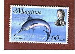 MAURITIUS -  SG 449   -  1969 MARINE ANIMALS: INDO-PACIFIC BLUE MARIN   -  USED° - Mauritius (1968-...)