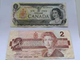 Lot De 3 X 1 Dollar 1973 & 1 X 2 Dollars 1986 - Canada