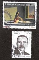TIMBRES  FRANCE ..OBLITERATION RONDE...2012.   HOPPER - QUEUILLE..  N°4633/4635. - France
