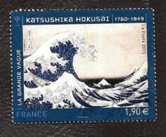 TIMBRES  FRANCE ..OBLITERATION RONDE...2015 ..KATSUSHIKA HOKUSAI...N°4923  .TBE - Frankreich