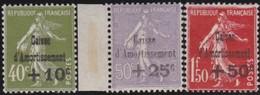 France  .   Yvert   .     275/277  (2 Scans)   .       *     .         Neuf Avec Charniere   .   /   .  Mint-hinged - France