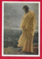 CARTOLINA VG ITALIA - GESU VEGLIA SULLA CITTA - Paul Flandrin - PARIGI Chiesa Di S. Germano - 10 X 15 - 1965 - Gesù
