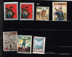 Vignettes Militaires 14-18 Delandre à Identifier - Sammlungen (ohne Album)