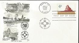 J) 1962 UNITED STATES, MASONIC GRAND LODGE, COMMEMORATION 50th ANNIVERSARY NEW MEXICO, STATEHOOD, CAPITOL BUILDING SANTA - United States
