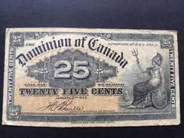 1 Billet De Banque De 25 Cents De 1900 Du Dominion Of Canada - Canada