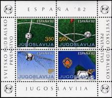 1982, Jugoslawien, 1921/24 Block 20, Fußballweltmeisterschaft, Spanien. MNH ** - Blocks & Kleinbögen