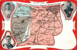 ! Alte Ansichtskarte Vaals, Vierländerpunkt, Grenze, Eisenbahnlinien, Adel, Aachen, Neutral Moresnet, Altenberg, Belgien - Vaals