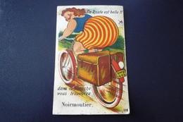 85. N°150111 . Noirmoutier.velo Femme .carte A Systeme Multivues.plie - Ile De Noirmoutier