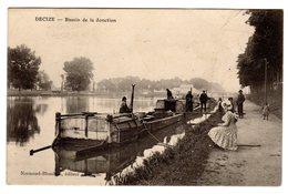 CPA Decize 58 Nièvre Péniche Au Bassin De La Jonction Belle Animation éditeur Normand Blondeau - Decize