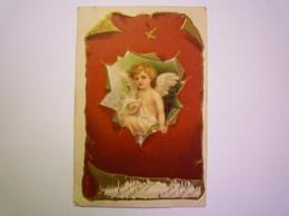 2019 - 2266  ANGELOT  :  Jolie Carte Fantaisie Gaufrée  1904     XXX - Engel