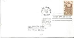 J) 1961 UNITED STATES, MASONIC GRAND LODGE, BASKETBALL, FDC - United States