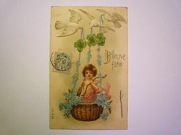 2019 - 2267  ANGELOT  :  Jolie Carte Fantaisie Gaufrée  1907     XXX - Engel