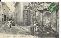 Ardeche BOURG ST ANDEOL La Grande Fontaine Belle Animation - Bourg-Saint-Andéol