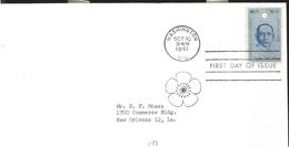 J) 1961 UNITED STATES, MASONIC GRAND LODGE, 50th ANNIVERSARY OF THE REPUBLIC OF CHINA, SUN YAT SEN, FDC - United States